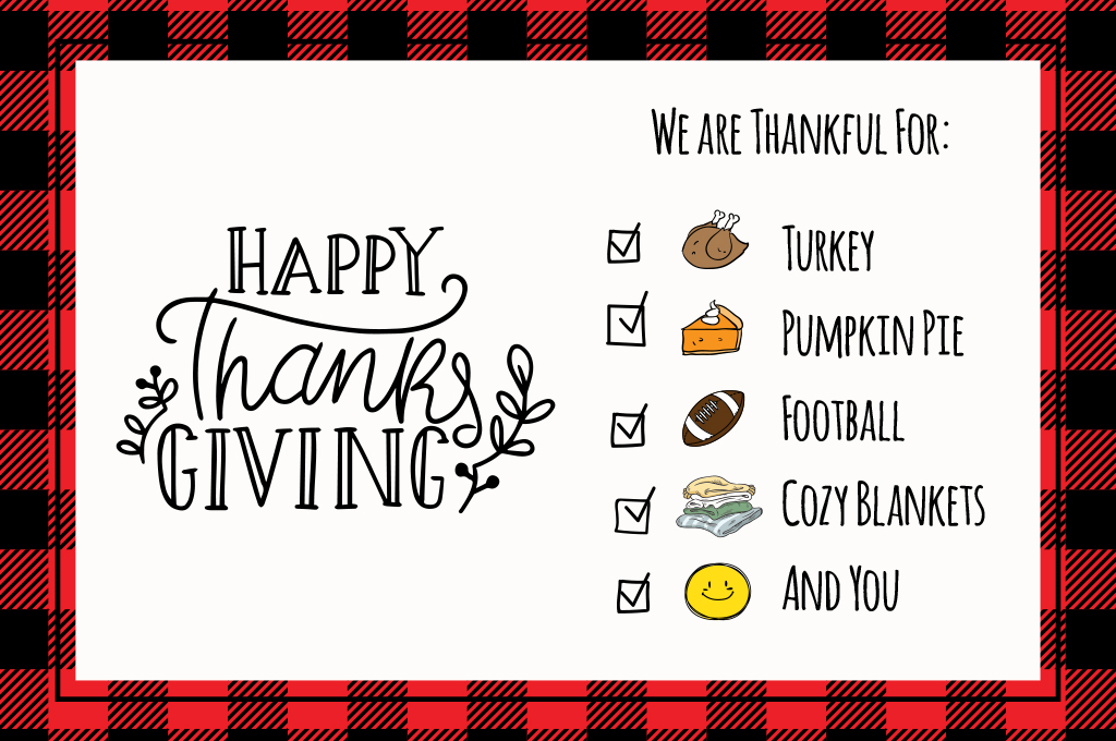 We are thankful for so many things